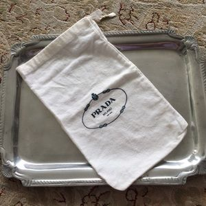 Prada White Dust Bag